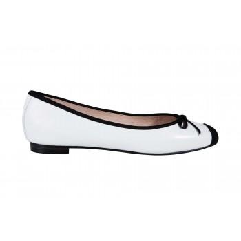 Soft kid square toe ballerinas