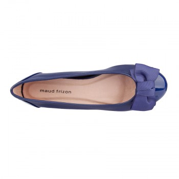 Soft PU ballerinas with bow detail