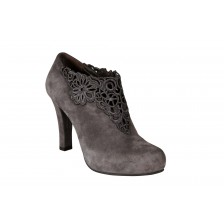 Suede Crochet Lace Ankle Boots