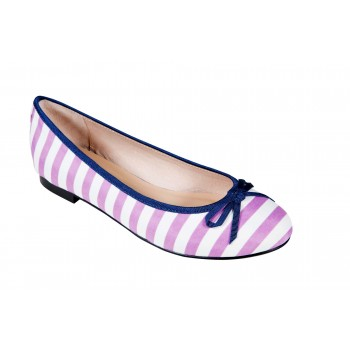Stripes Bow Ballerina