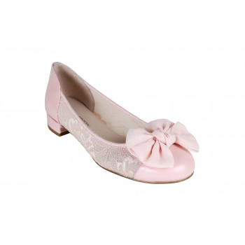 LACE ROUND TOE FLAT SHOES