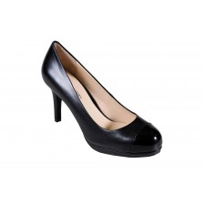 LEATHER TOE CAP HEEL PUMPS
