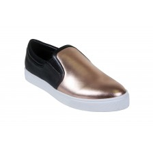 METALLIC LEATHER PLATFORM LOAFER