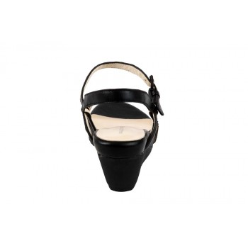 Wedge Sandal With Rhinestone Embellished Front Strap