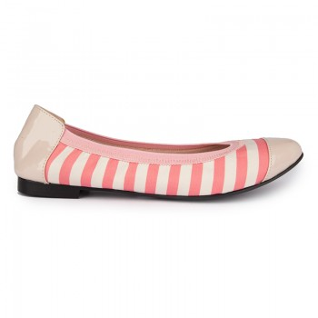 Stripes Print With Elasticated Topline Ballerina