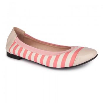 Stripes Print With Elasticated Topline Ballerina