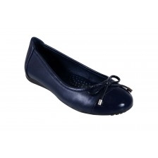 LEATHER PATENT TOECAP BALLERINA