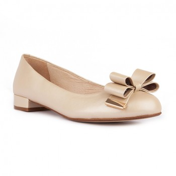 KID UPPER WITH 3D BOW ROUND TOE FLATS