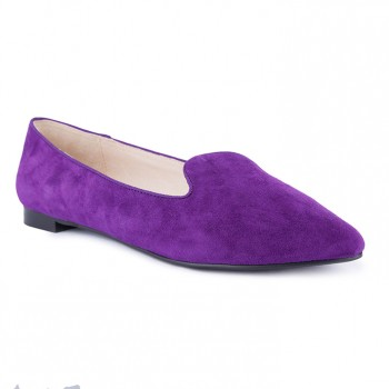 suede point toe loafer
