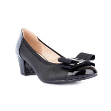 KID UPPER + PATENT TOECAP HEEL PUMP