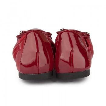Patent PU foldable ballerinas
