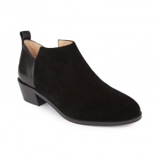 SUEDE AND CALF ANKLE BOOTS
