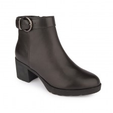 CALF ANKLE BOOTS