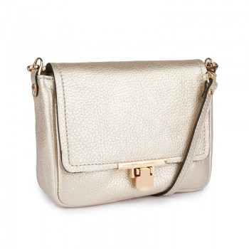 MINI SOFT TEXTURED LEATHER CROSSBODY WITH DETACHABLE CROSSBODY STRAP