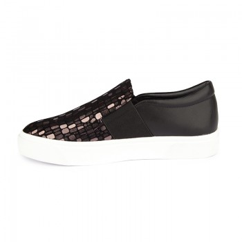 CROCO PRINT LEATHER LOAFER SNEAKERS