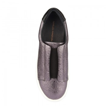 CRACKED CALF LEATHER LOAFER SNEAKERS