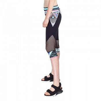 Printed mesh slim - fitting pants