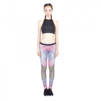 Printed slim-fitting pants