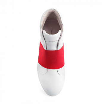 """LILLIE"" HIGH-TOP-SLIP-ON SNEAKER WITH WIDE ELASTIC BAND"