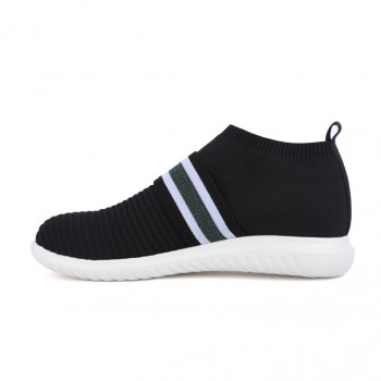 """NORI"" FLY-KNIT LOW BOOTIE SNEAKER WITH WIDE ELASTIC BAND"