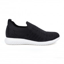 """MERRYL"" FLYKNIT SLIP ON SNEAKER WITH STONE EMBELLISHMENT"