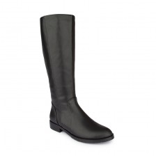 Slim fit leather knee boots