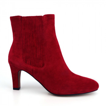 """VIVETTE FINGER-GORE SLIP ON PLAIN BOOTIE"""