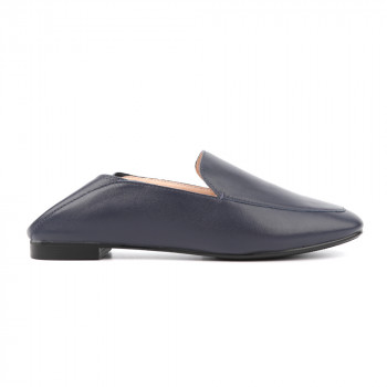 SOFT LEATHER CASUAL LOAFER WITH COLLAPSIBLE BACK