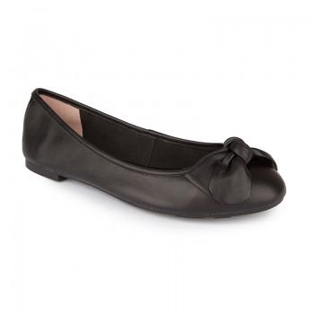 Soft leather ballerina