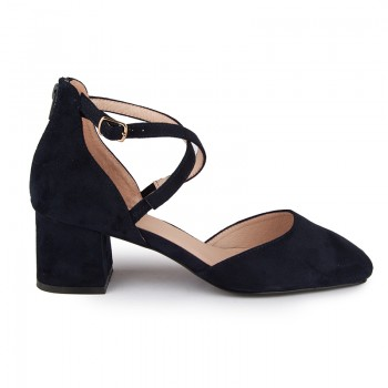 Crisscross ankle strap d'osay pumps